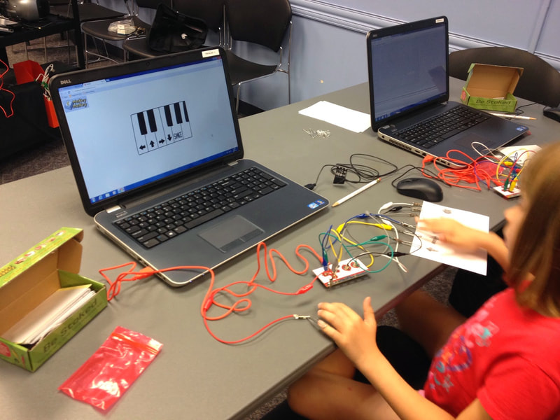 Explore possibilities with MakeyMakey.